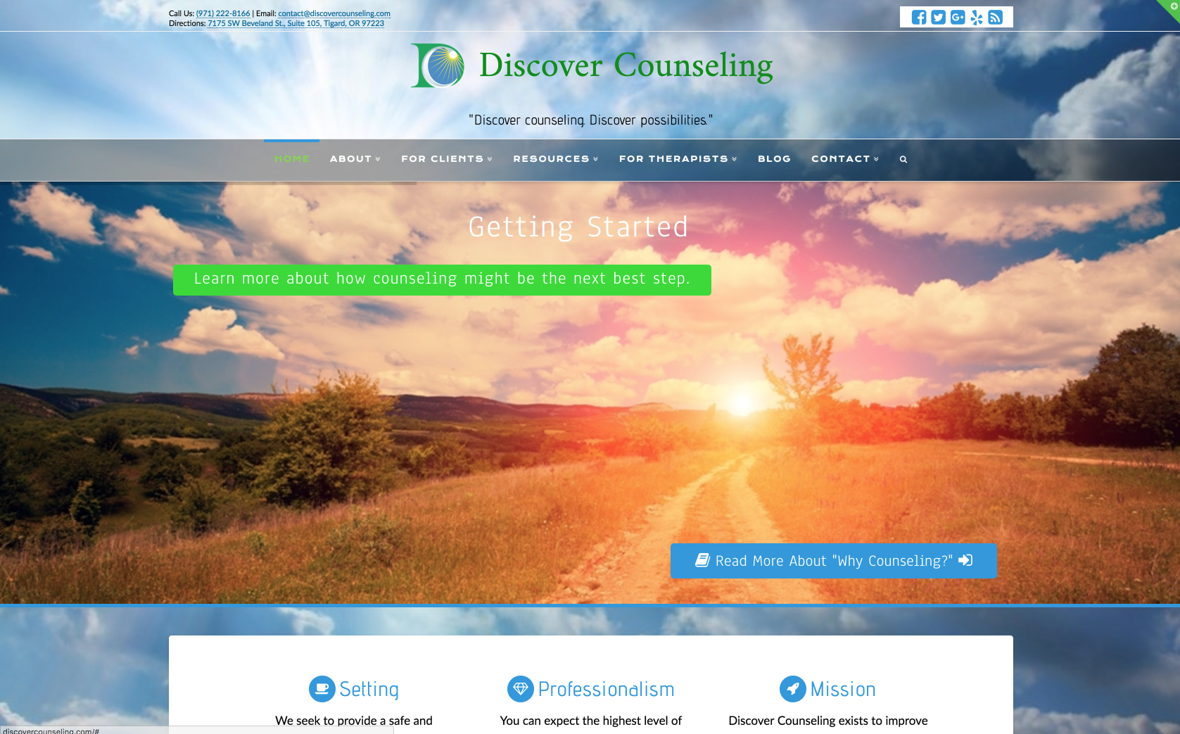 Life Encounter Counseling website